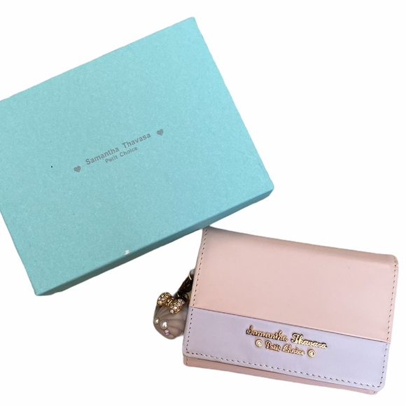 Baby Pink and Lavender Tri Fold Wallet